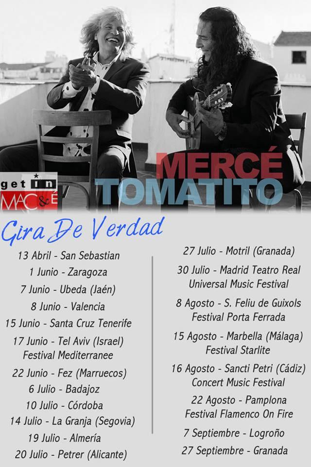 """Gira """"De verdad"""" José Mercé & Tomatito"""