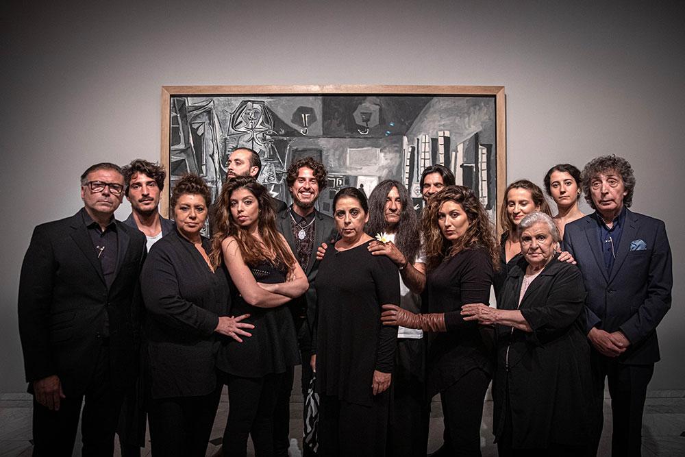 Performance Familia Morente - Meninas Museu Picasso - foto: David Airob