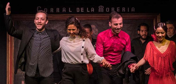 Manuel Liñán & Olga Pericet & Marco Flores en el Corral de la Moreria