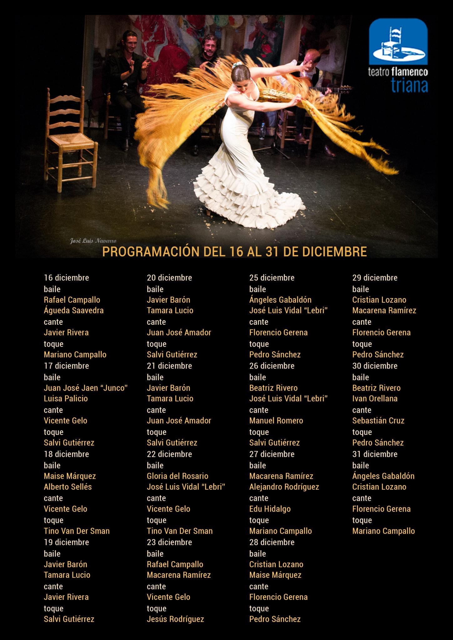 Programación Teatro Flamenco Triana