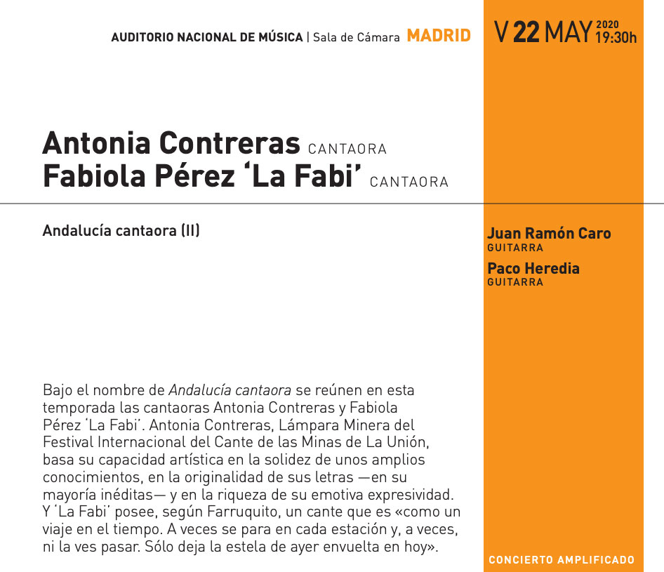 Antonia Contreras - La Fabi - Auditorio Nacional