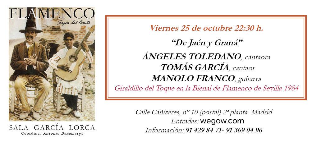 De Jaén y Graná - Sagas del Cante - Sala García Lorca