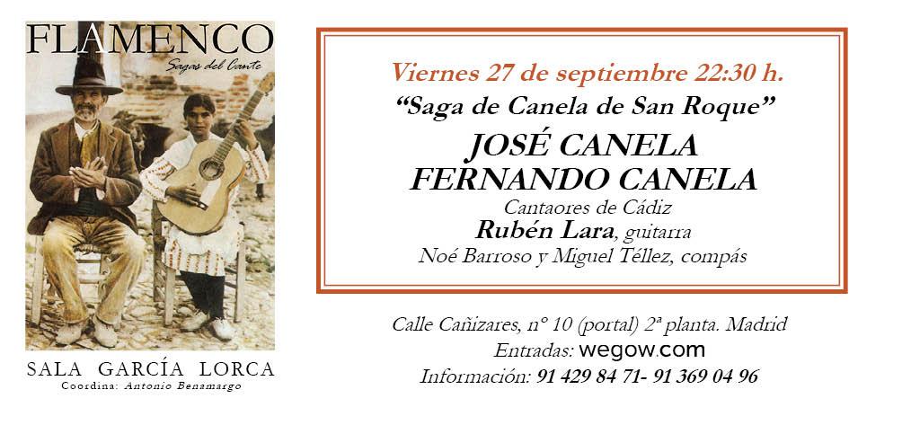 Saga de los Canela de San Roque - Sagas del Cante - Sala García Lorca