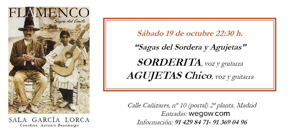 Sagas del Sordera y Agujetas - Sagas del Cante - Sala García Lorca
