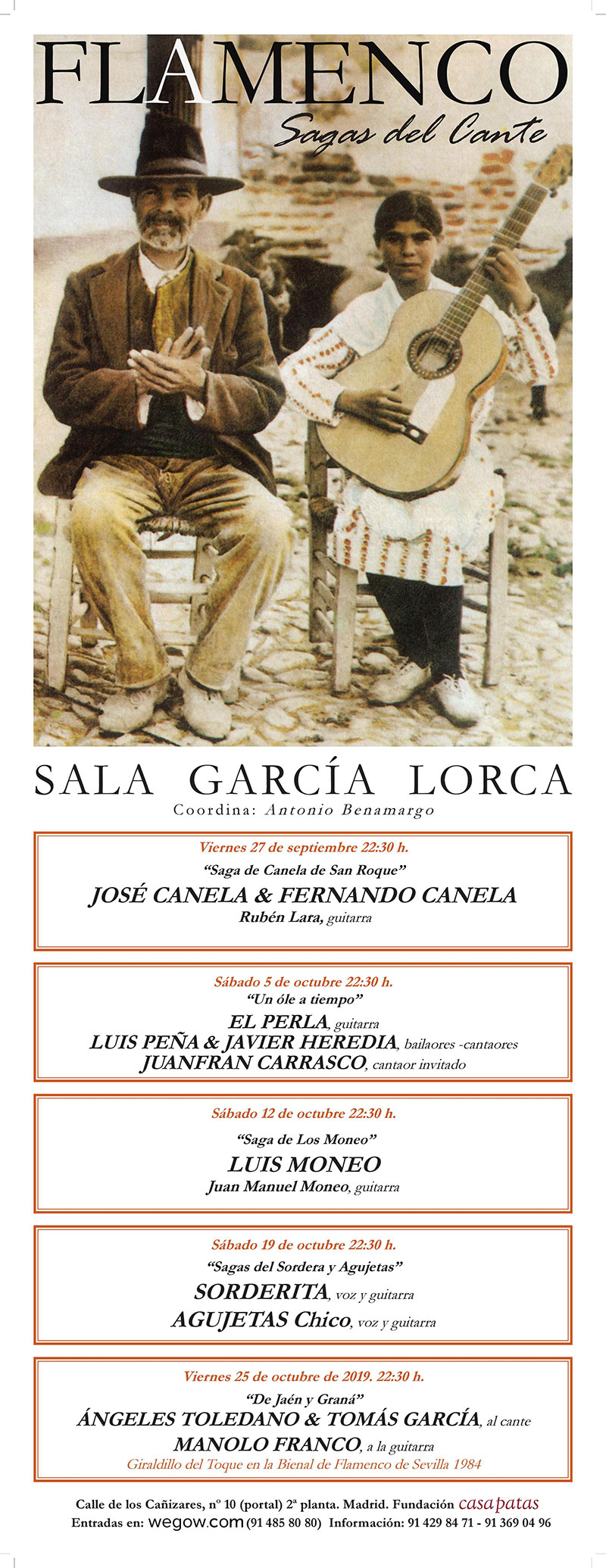 Sagas del Cante - Sala García Lorca