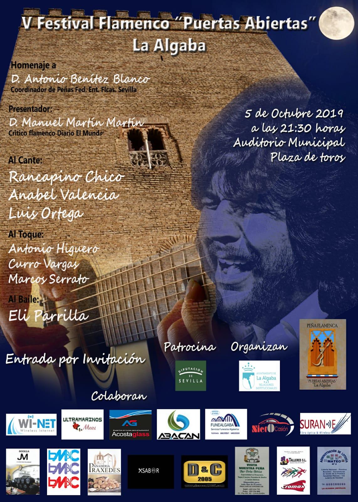 Festival Flamenco Puertas abiertas La Algaba