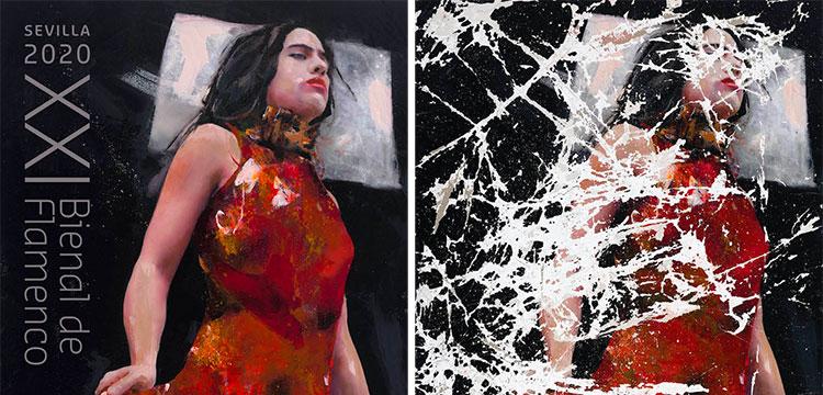 Cartel de XXI edición de La Bienal de Flamenco de Sevilla