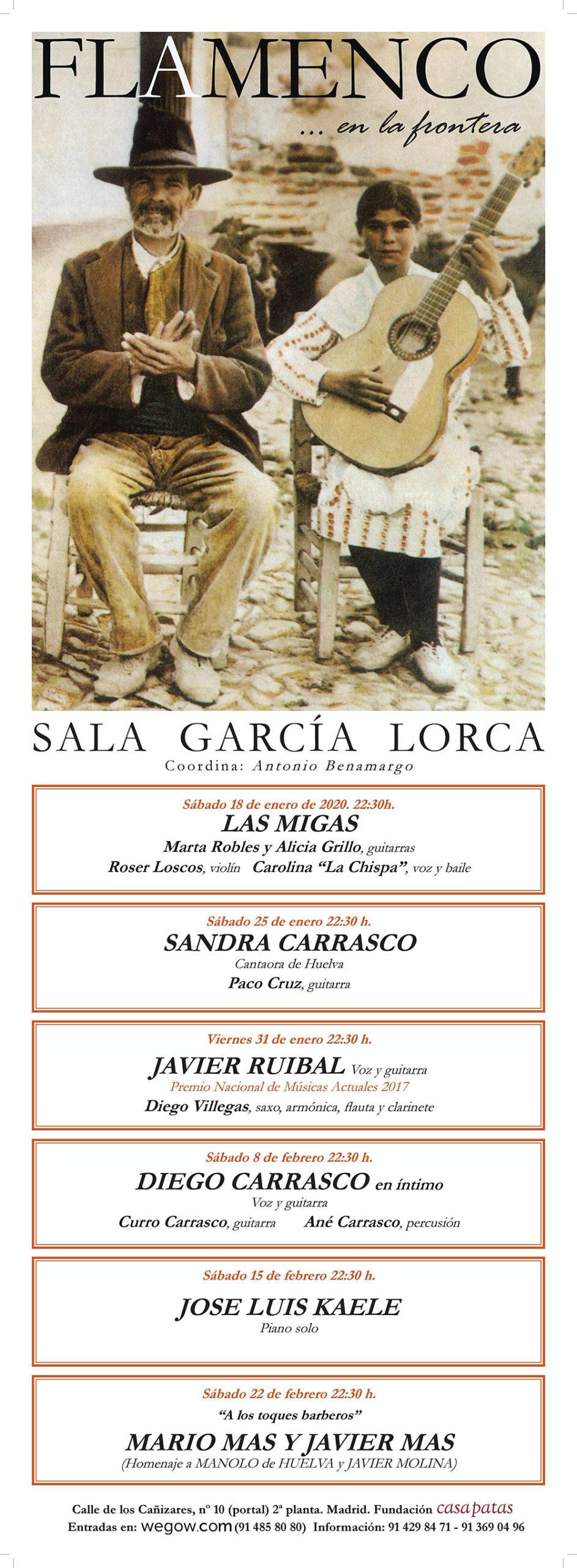 Sala García Lorca Flamenco en la Frontera 2020