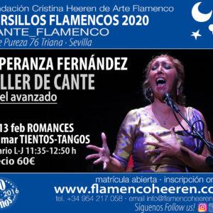 Taller de cante - Esperanza Fernández en Cristina Heeren