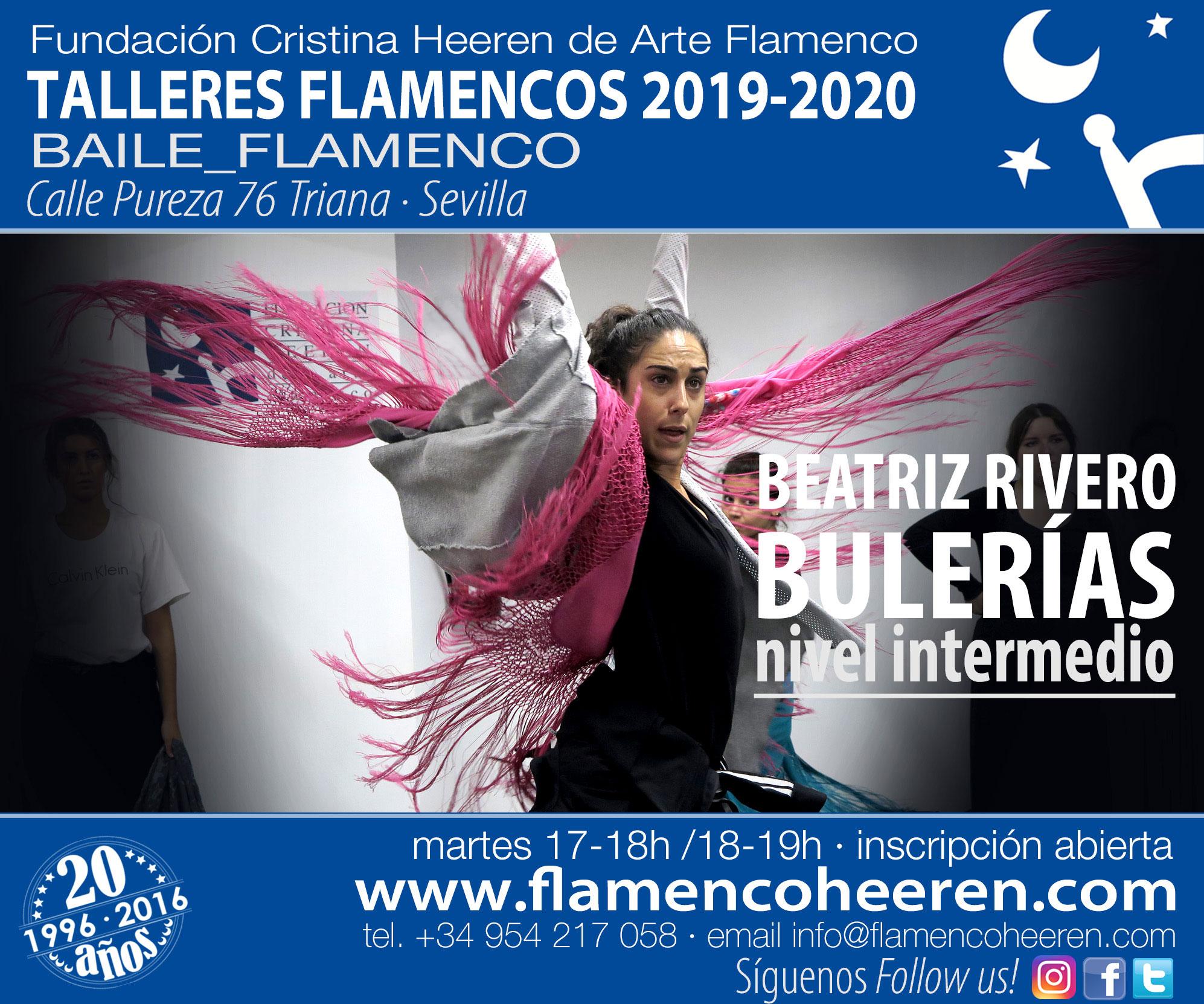 Beatriz Rivero - Bulerías - Talleres flamencos Fundación Cristina Heeren