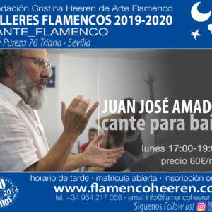 Juan José Amador, cante para baile. Talleres flamencos Fundación Cristina Heeren