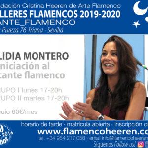 Lidia Montero - Iniciación al cante flamenco. Talleres flamencos Fundación Cristina Heeren