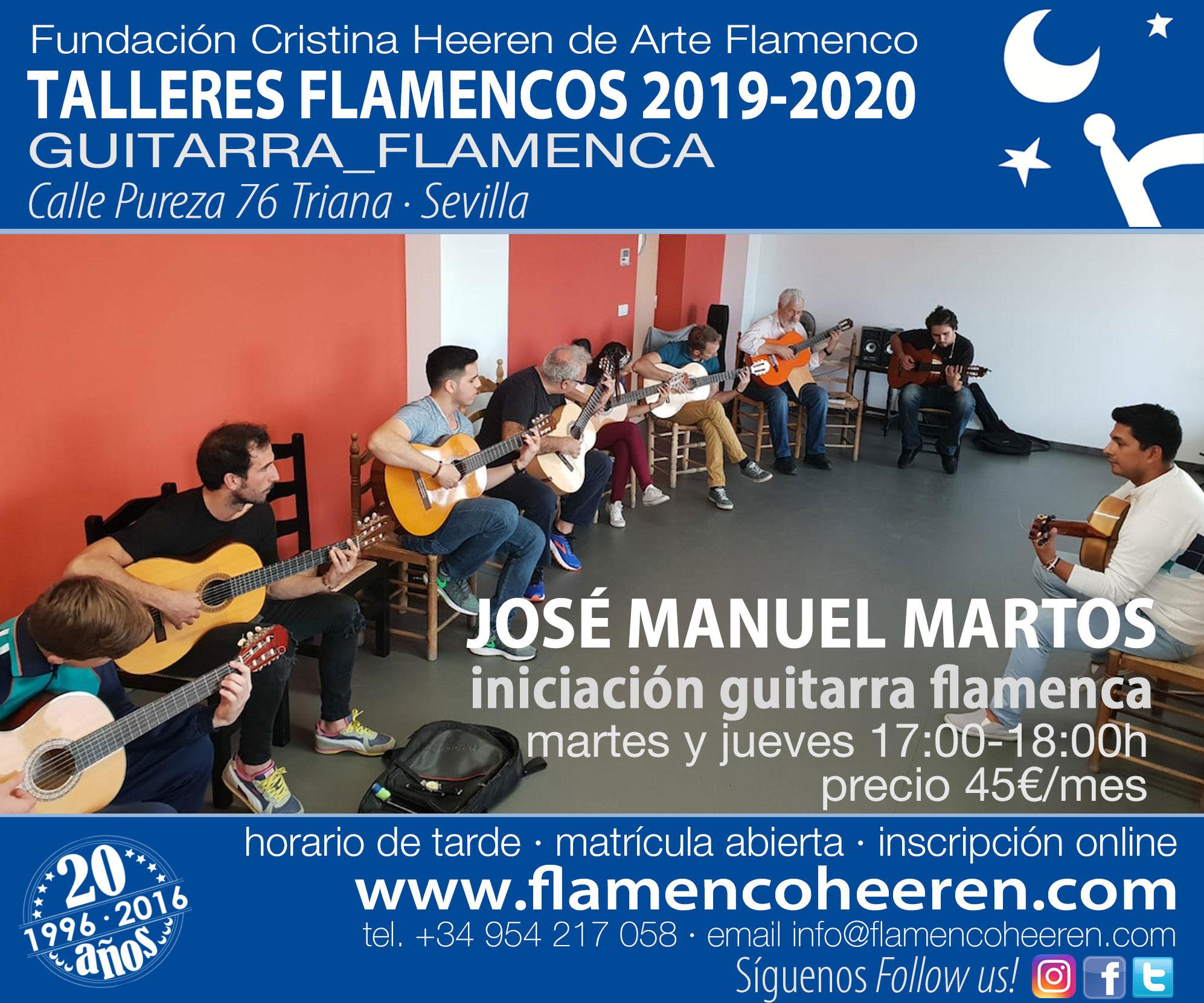 José Manuel Martos. Iniciación guitarra flamenca. Talleres flamencos Fundación Cristina Heeren