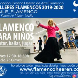 Flamenco para Niños. Talleres flamencos Fundación Cristina Heeren