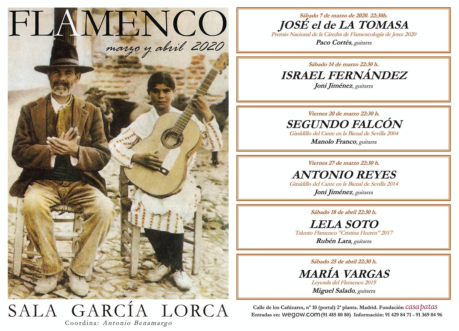Sala García Lorca - marzo abril 2020