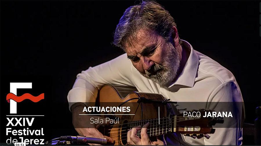 Video Paco Jarana 'Flamencorio' Festival de Jerez
