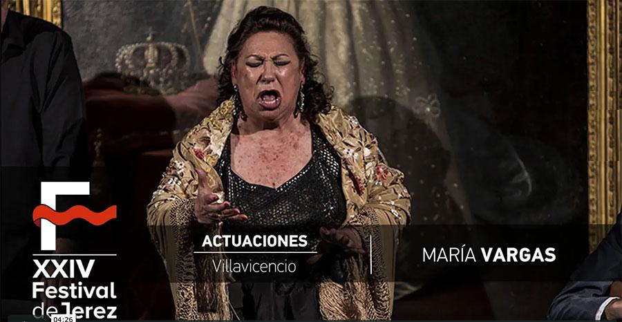 Video María Vargas en Festival de Jerez
