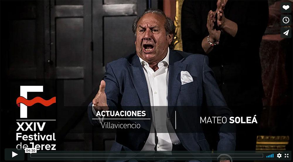 Video Mateo Soleá en el Palacio de Villavicencio en Festival de Jerez