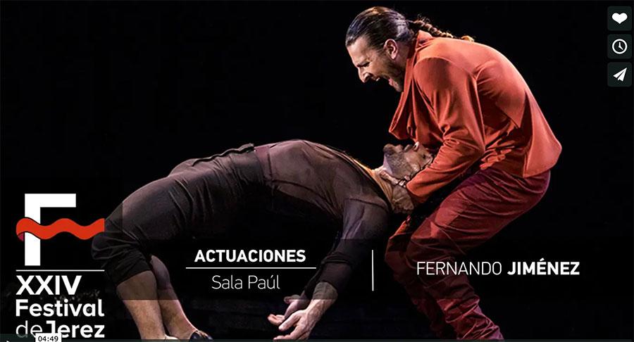 Video Fernando Jiménez (Conmigo…) en el Festival de Jerez