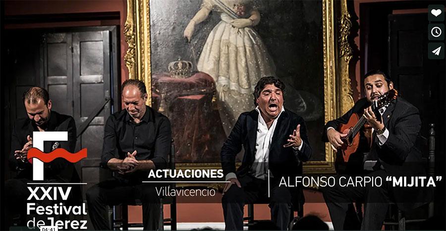 Video Alfonso Carpio 'Mijita' en el Festival de Jerez