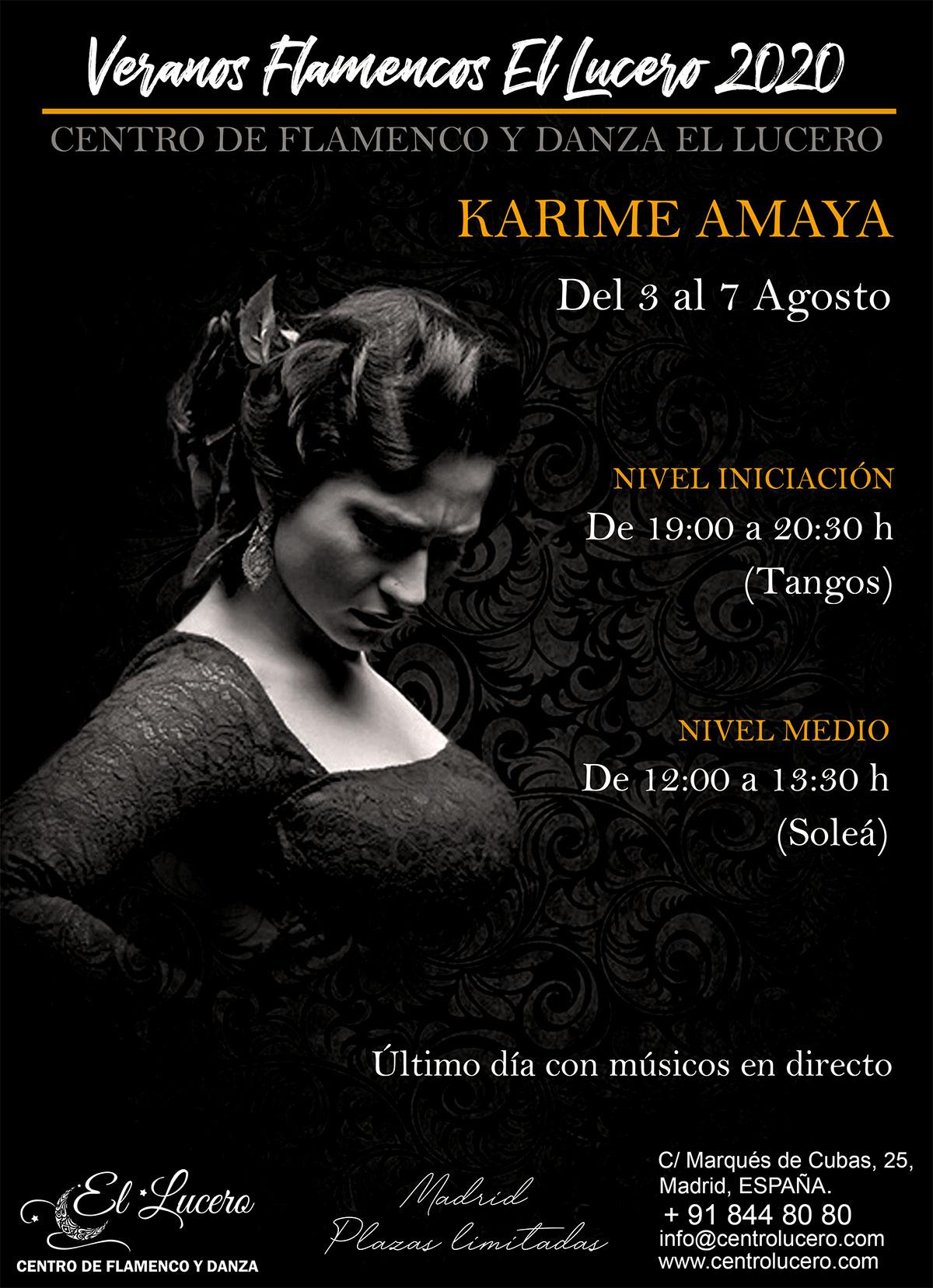 Veranos Flamencos EL LUCERO - Karime Amaya