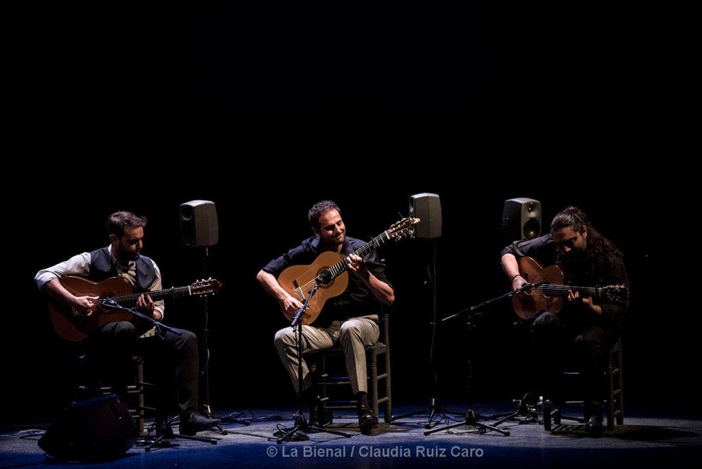 Dani de Morón, Diego del Morao, Niño Seve - La Bienal - foto: Claudia Ruiz Caro