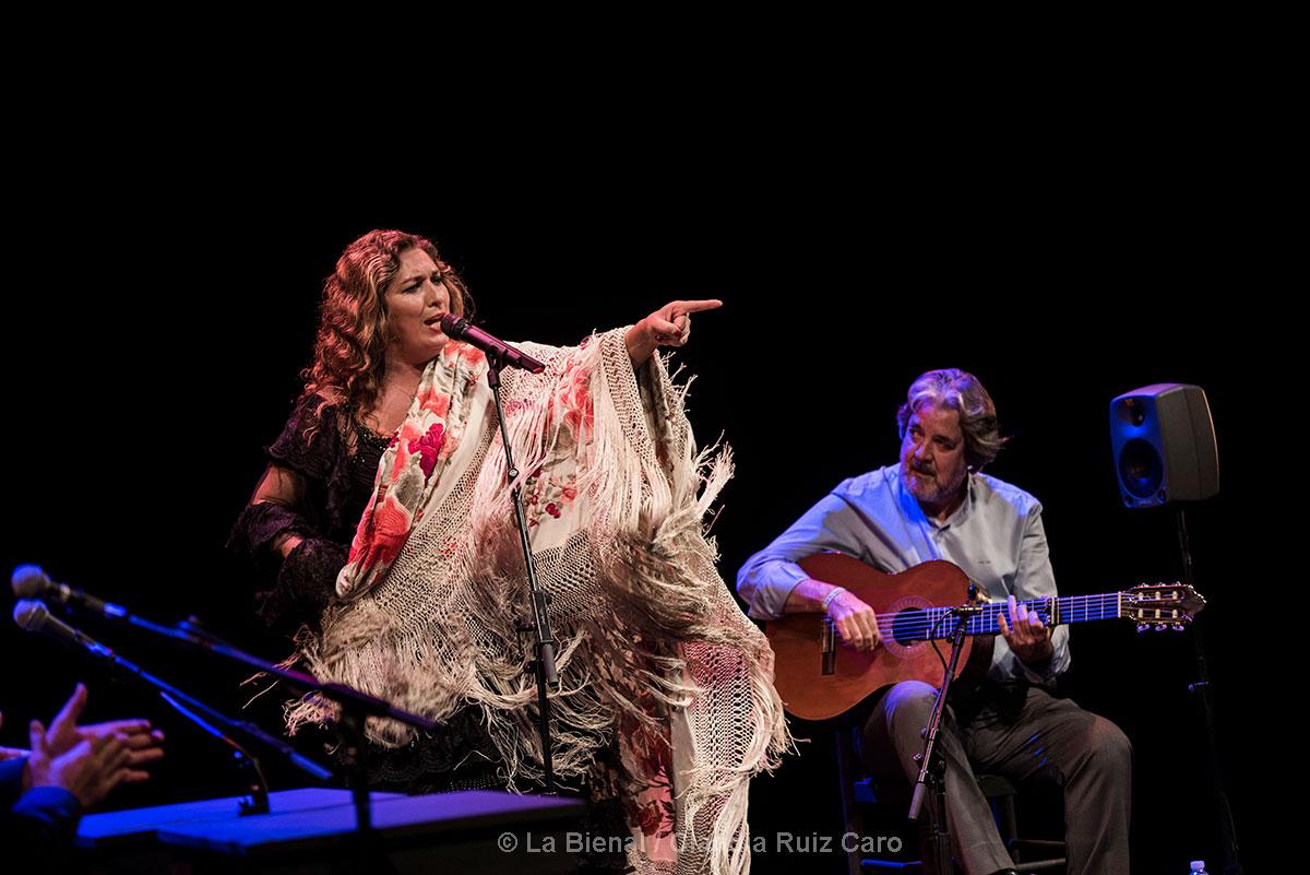 Estrella Morente & Rafael Riqueni en la clausura de La Bienal