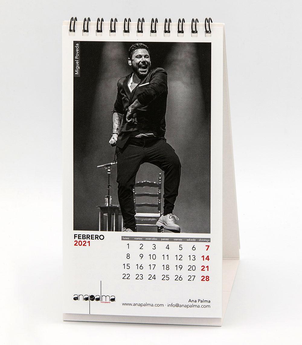 Calendario Ana Palma 2021 - Miguel Poveda