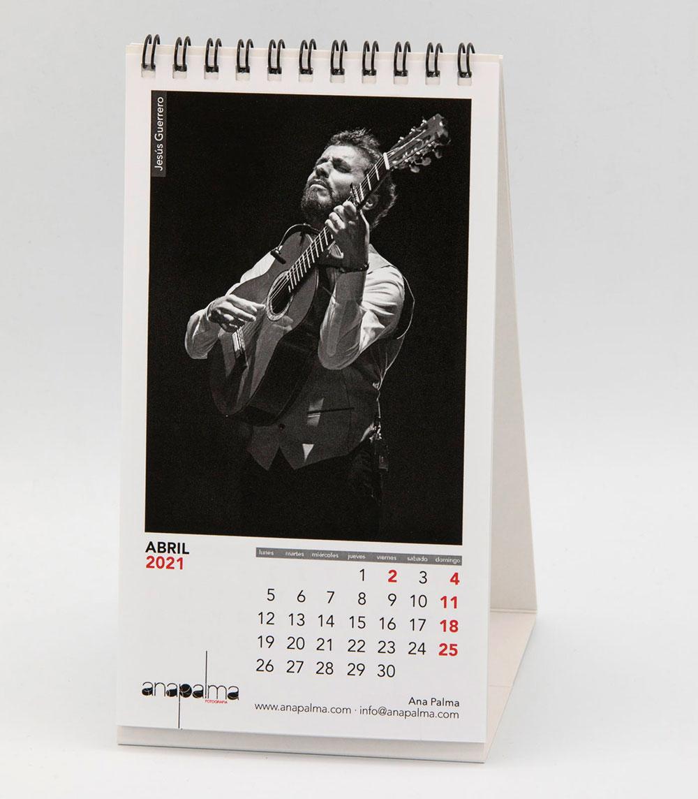 Calendario Ana Palma 2021 - Jesús Guerrero