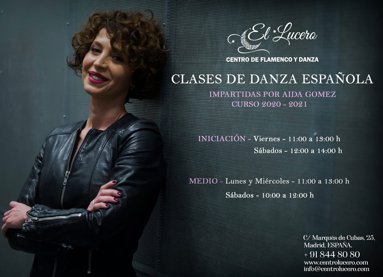 Escuela el Lucero - Clases de Danza Española - Aída Gómez