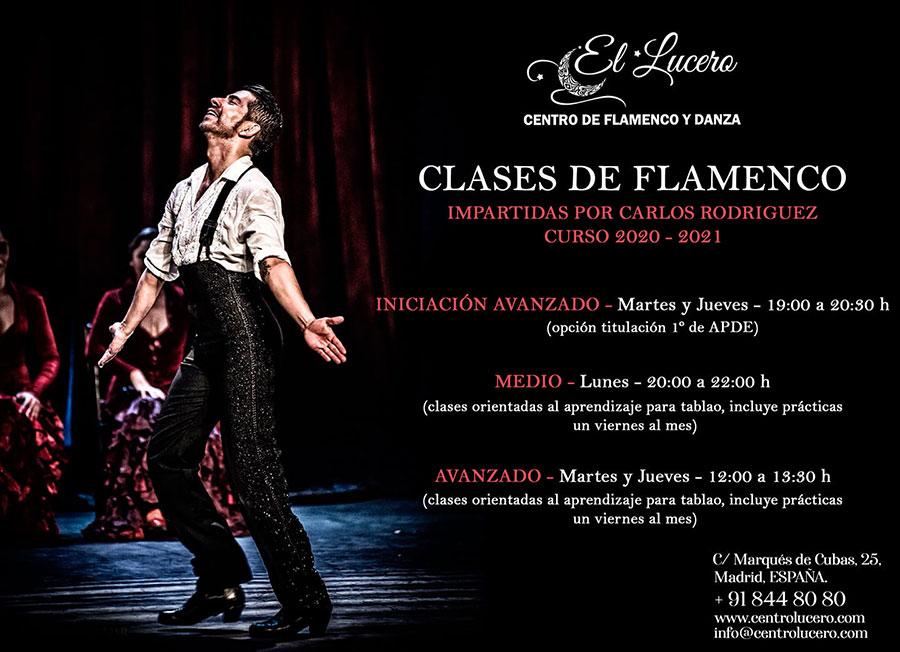 Escuela el Lucero - Clases de Flamenco Carlos Rodríguez