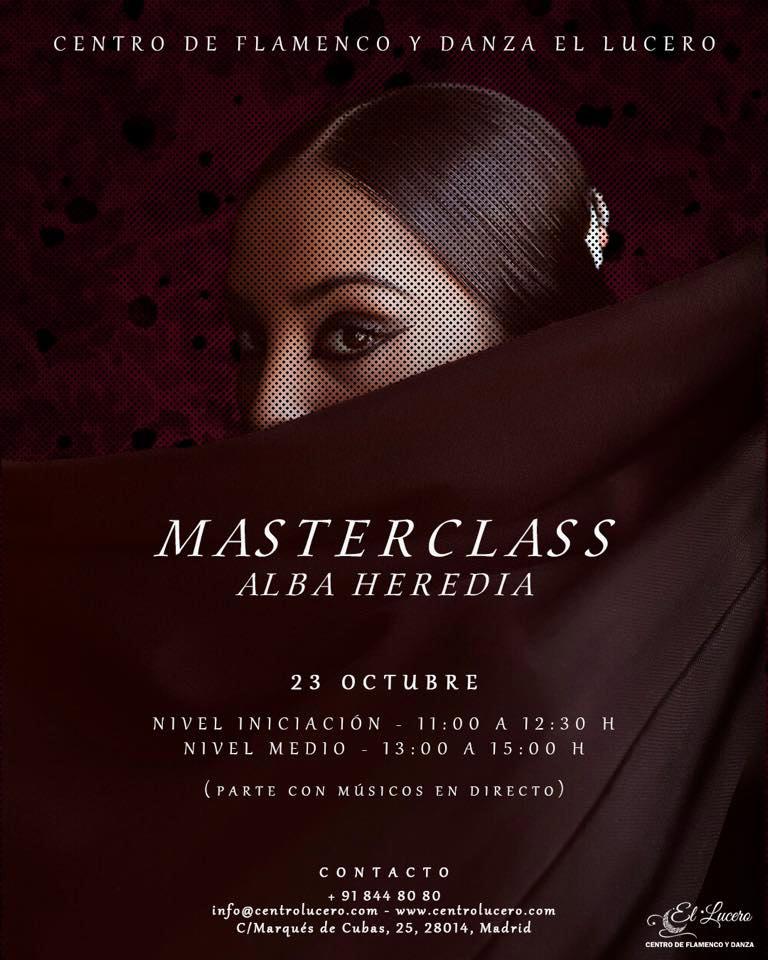 Masterclass Alba Heredia - Centro El Lucero