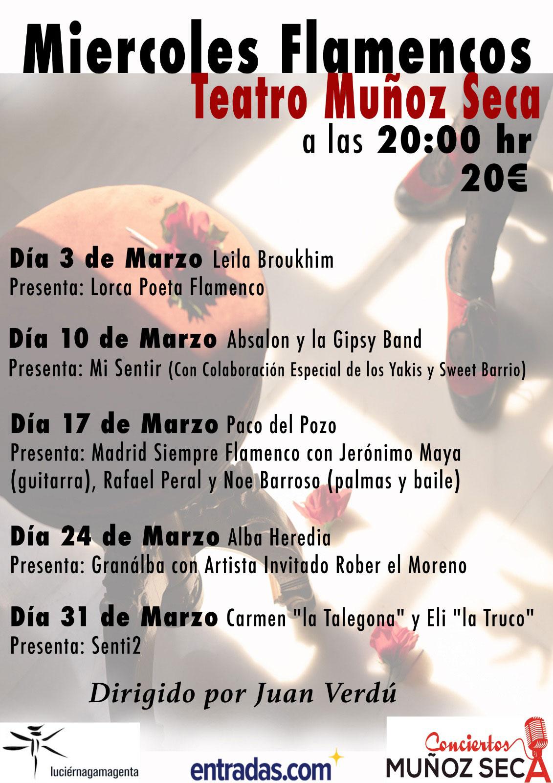 Miércoles flamencos Teatro Muñoz Seca