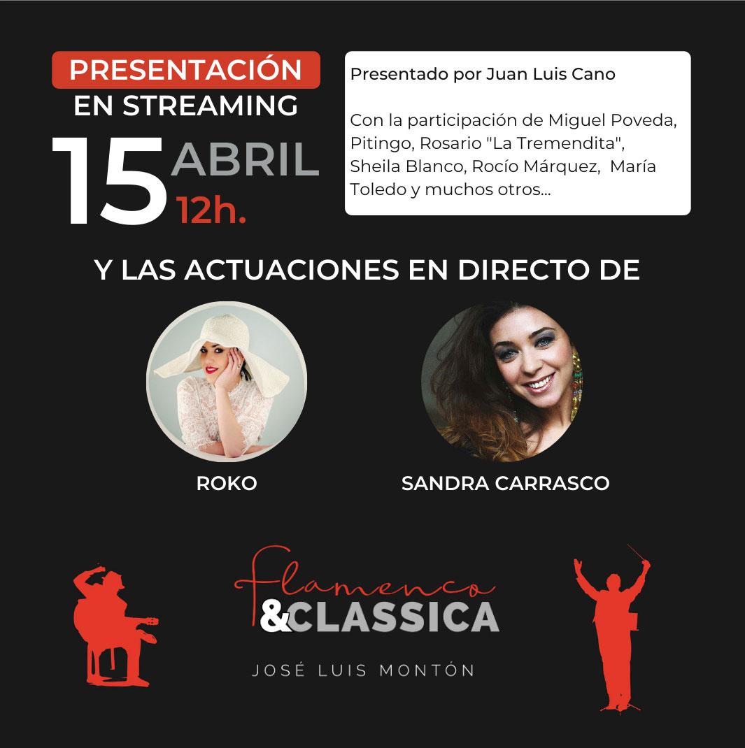 Presentación «Flamenco & Classica» de José Luis Montón en directo