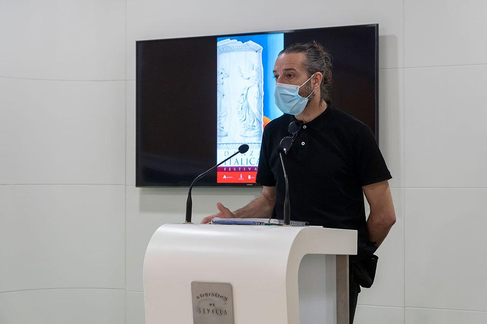 Andrés Marín inaugura el Festival Internacional  de Danza Itálica 2021 con el estreno de 'Éxtasis/Ravel (Show andaluz)'