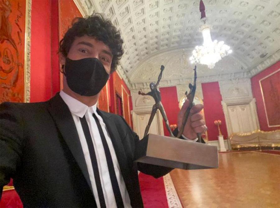 Jesús Carmona recibe el 'Óscar de la Danza' en el Teatro Bolshói de Moscú