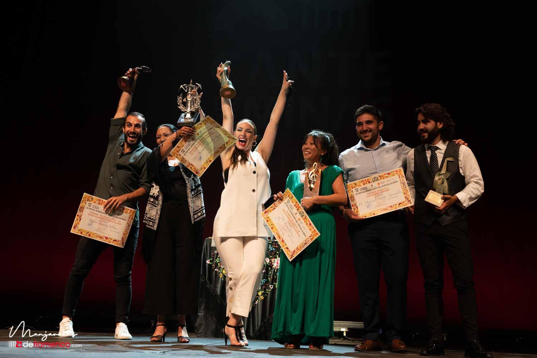 Ganadores del Cante de las Minas 2021. Amparo Heredia Reyes «La Repompilla» nueva Lámpara Minera