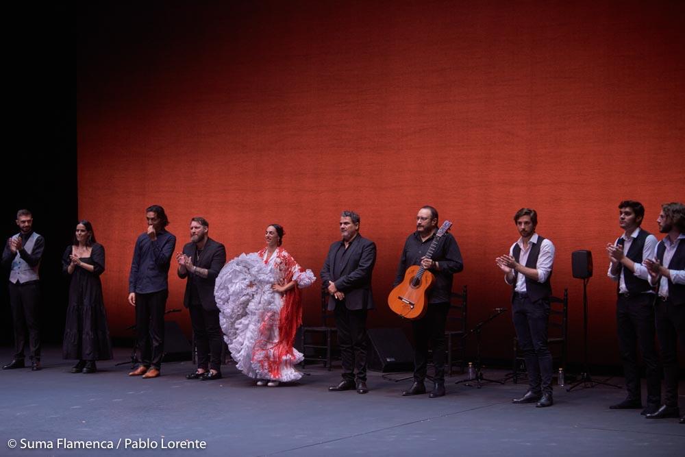 Ángel Flores, Ángeles Toledano y Rebeca Ortega en Suma Flamenca Joven